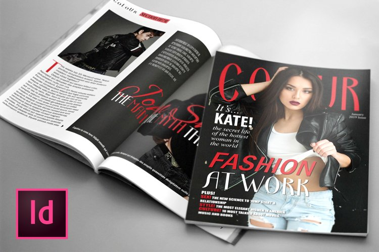 COLOUR, Fashion Magazine Template example image 1
