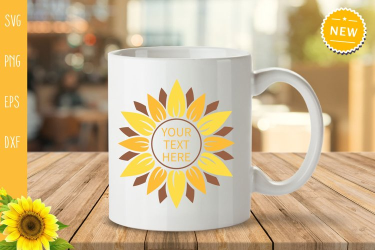 Sunflower Bundle Svg, Sunflower Svg, Sunflower Monogram Svg example 6