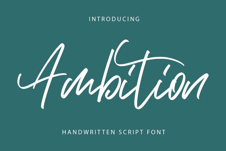 Ambition - Script Font example image 1