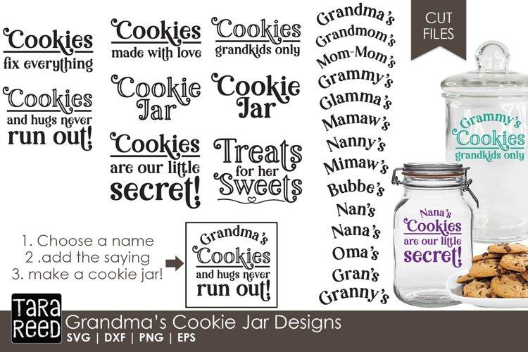 Grandma S Cookie Jar Family Svg Files For Crafters 155122 Cut Files Design Bundles