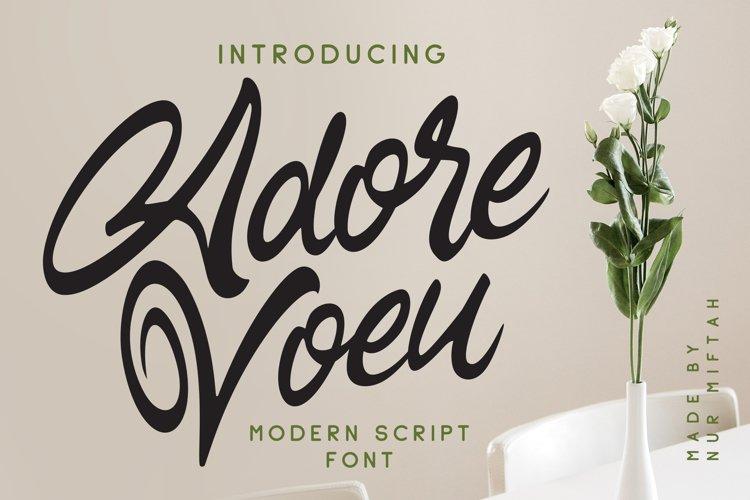 Adore Voeu - Modern Script Font example image 1