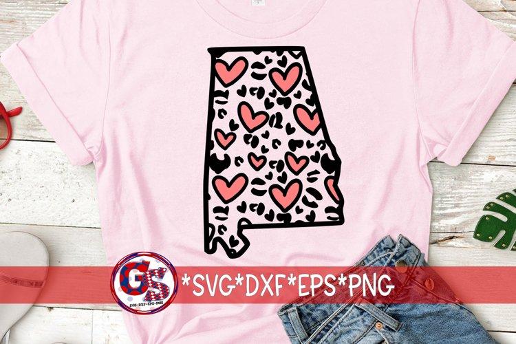 Download Valentine S Day Heart Leopard Print Alabama Svg Dxf Eps 1121648 Cut Files Design Bundles