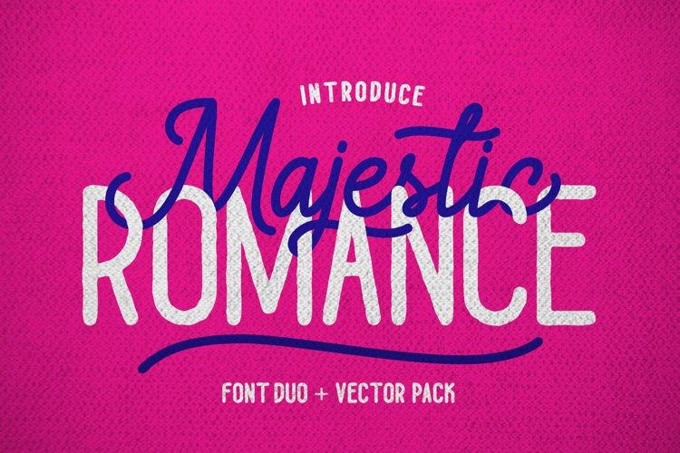 Majestic Romance - Font Duo example image 1