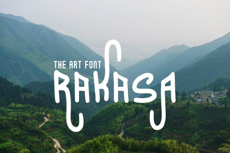 RAKASA ART FONT example image 1