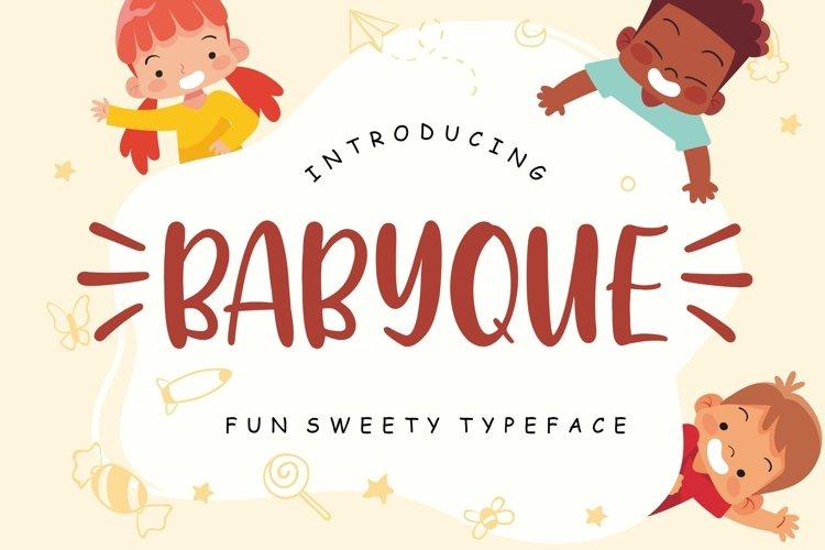 Babyque Fun Sweety Typeface example image 1