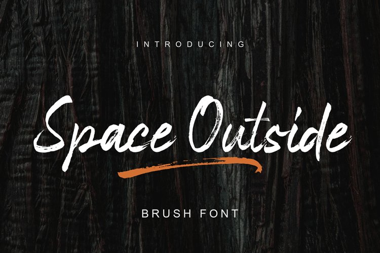 Space Outside Handbrush Font example image 1