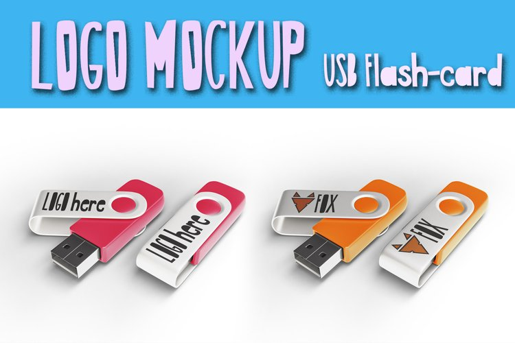 USB storage Mockup