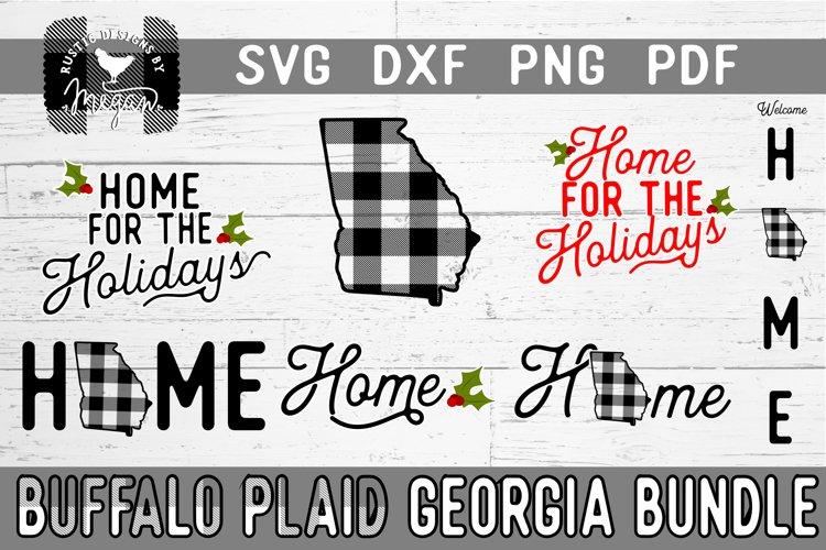 Georgia Buffalo Plaid Bundle SVG DXF Cut File example image 1