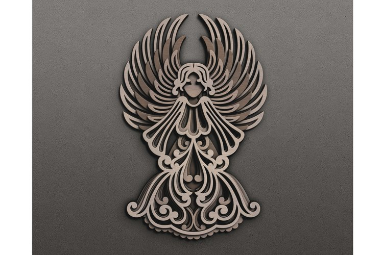 Laser Cut Layered Angel template - multilayer SVG Cricut