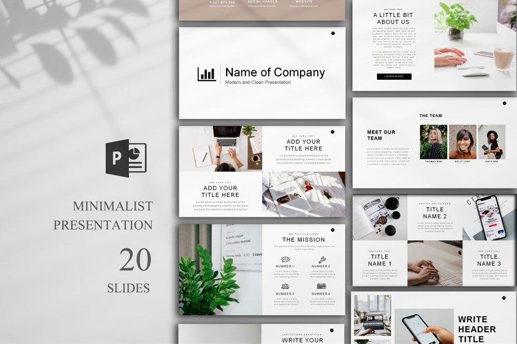 Minimal Presentation, 20 Slides, PowerPoint example image 1