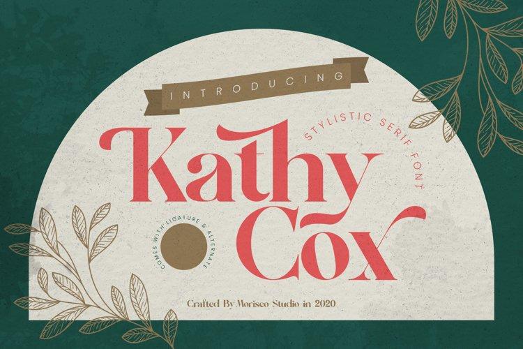 Kathy Cox - Stylish Serif Font example image 1