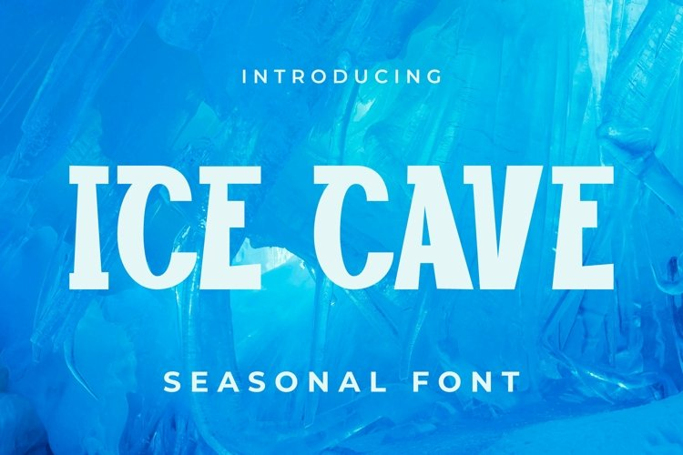 Web Font Ice cave Font example image 1