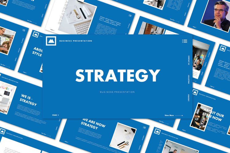 STRATEGY - Powerpoint Template example image 1