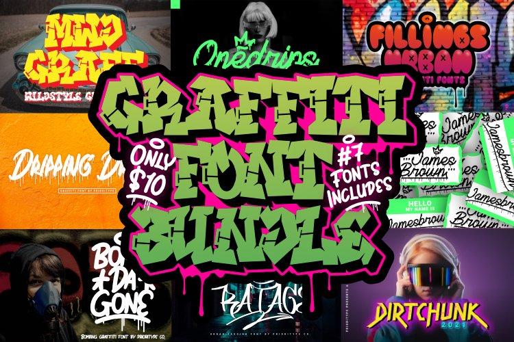 Graffiti Font Bundle - 7 Font example image 1