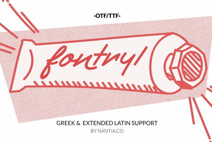 Retro Handwritten Font Fontryl Webfont