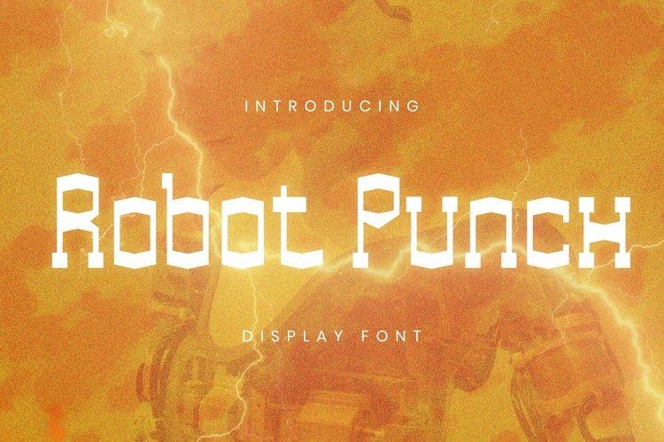 Web Font Robot Punch Font example image 1