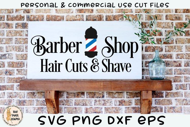 Barber Shop Hair Cuts & Shave SVG