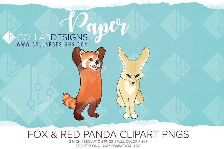 Fennec fox & Red Panda Clip art PNGs