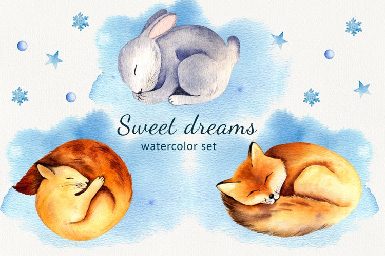 Sweet dreams Watercolor set