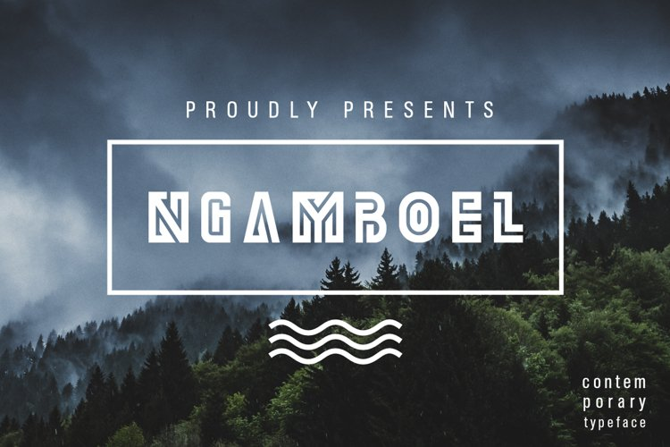 Ngamboel Typeface example image 1