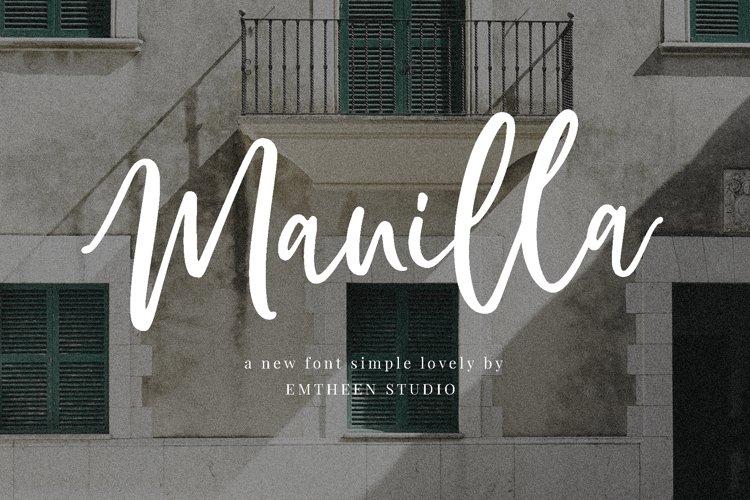 Manilla Script example image 1