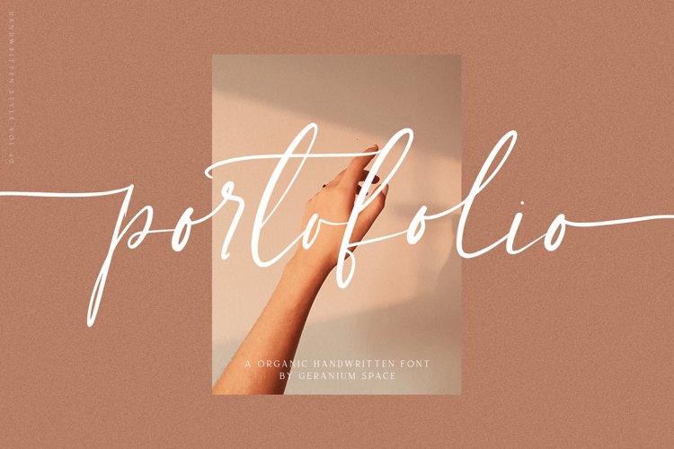 Portofolio - Handwritten Font