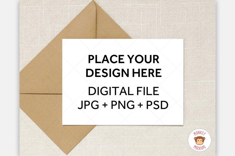 5x7 Greeting Card Mockup - Invitation Mock Up Stock Image example image 1