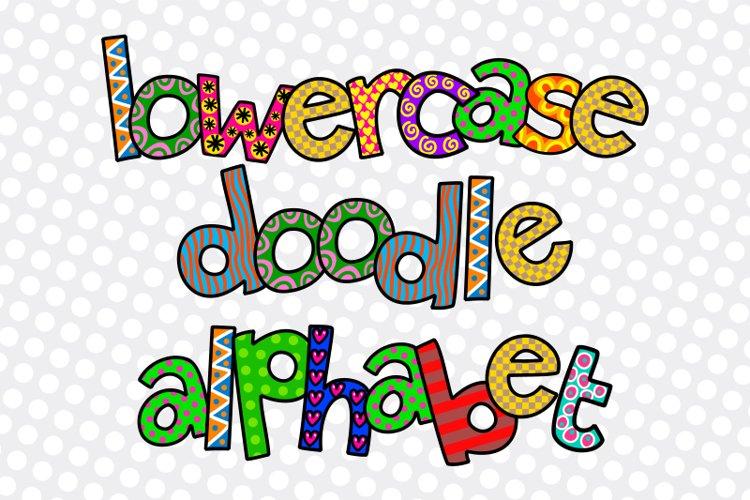 Hand Drawn Lowercase Alphabet Doodle Letters - Set 2