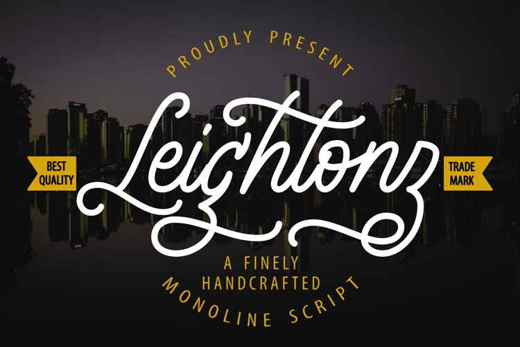 Leightonz | A Finely Handcrafted Monoline Script example image 1