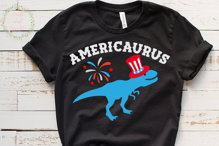 Americaurus - Funny 4th of July t-rex svg