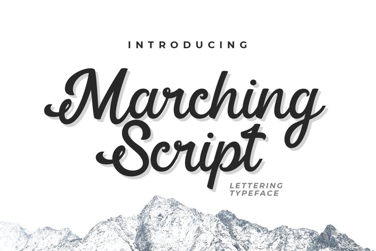 Web Font Marching Script example image 1