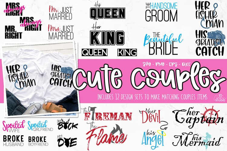 Couples SVG Bundle - His and Her Matching Bundles