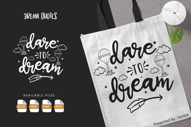Dare To Dream   Lettering Quotes example image 1