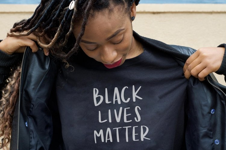 Black Lives Matter SVG Lettering  Hand Script Vector Quote