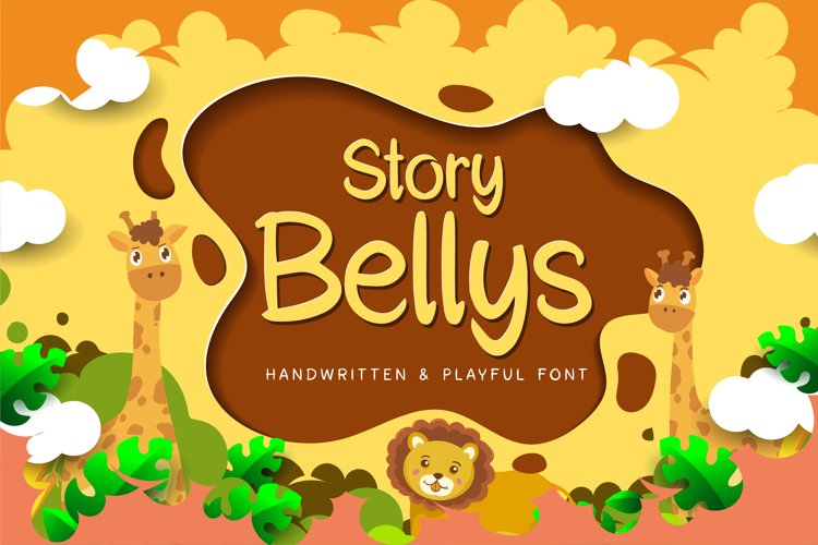 Story Bellys a Handwritten and Playful font example image 1