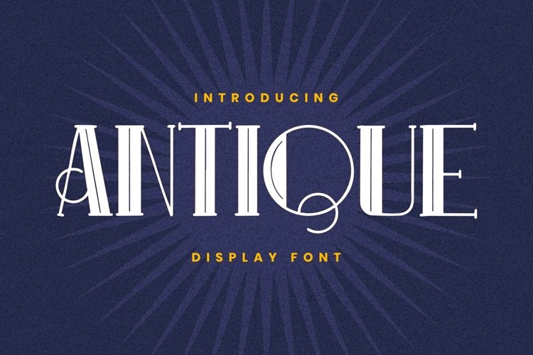 ANTIQUE Font example image 1
