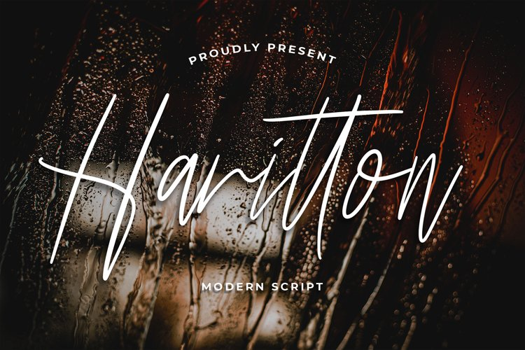 Harritton Modern Script Font example image 1