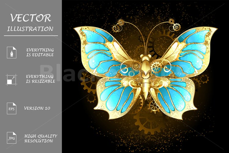 Mechanical Butterfly ( Steampunk ) example image 1