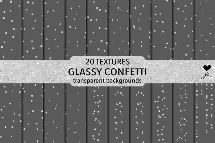 Glassy Confetti - transparent backgrounds