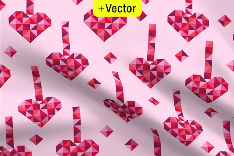 Pink Valentines Hearts pattern seamless Vector medallions