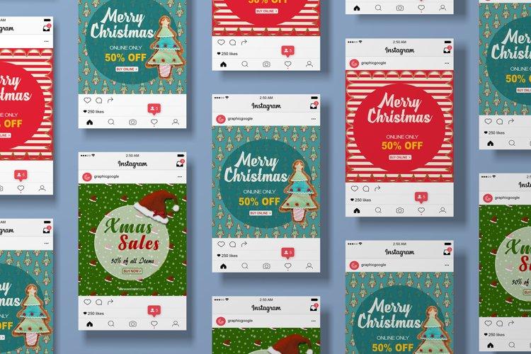 MINIMAL ! 16 Christmas Instagram Sale Banners PSD