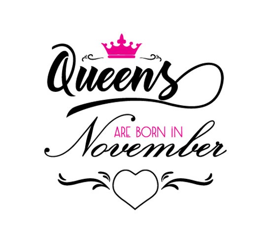 Queens are born in November  Svg,Dxf,Png,Jpg,Eps vector file example image 1