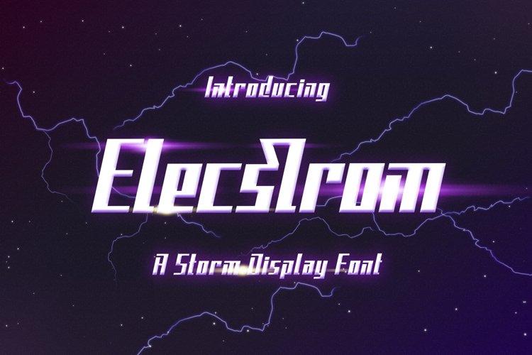 Elecstrom - Storm Display Font example image 1