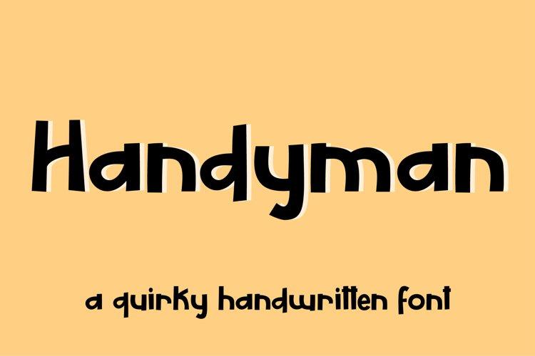 Handyman - a display font example image 1