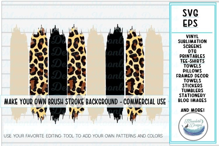 Editable Blank Brush Stroke Background DIY SVG EPS cut file example image 1