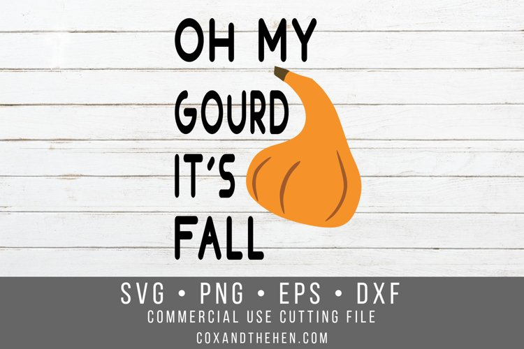 Oh my gourd its fall SVG example image 1