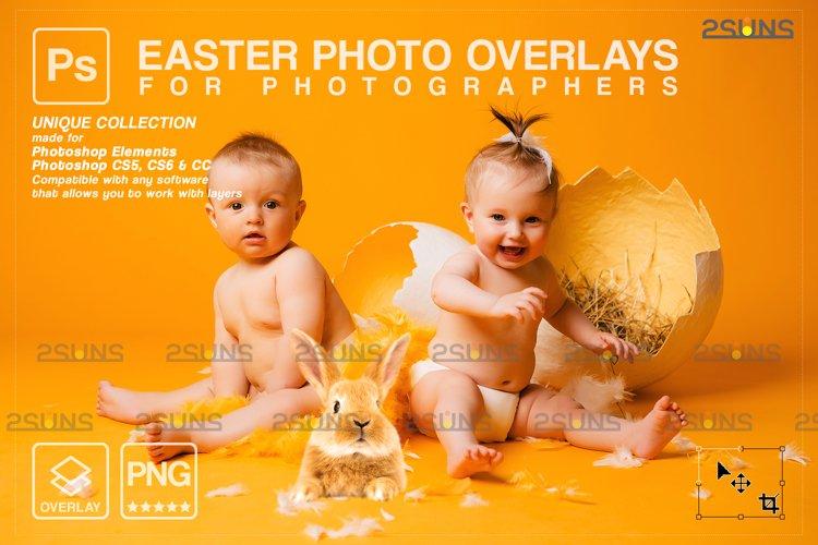 Photoshop overlay Easter bunny overlay example image 1
