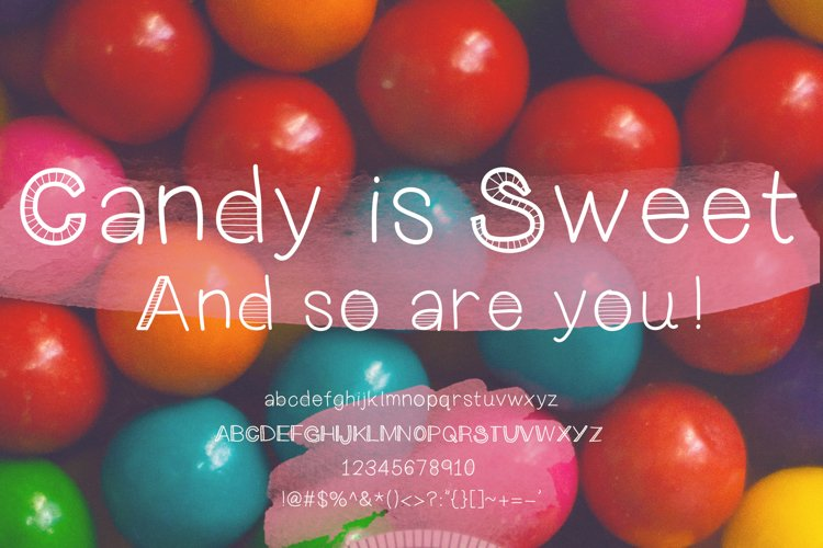 Keen On You a quirky, handwritten font with skinny lines example 1
