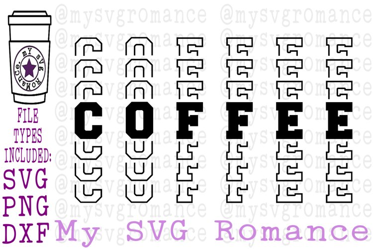 Coffee - Word Mirror SVG PNG DXF