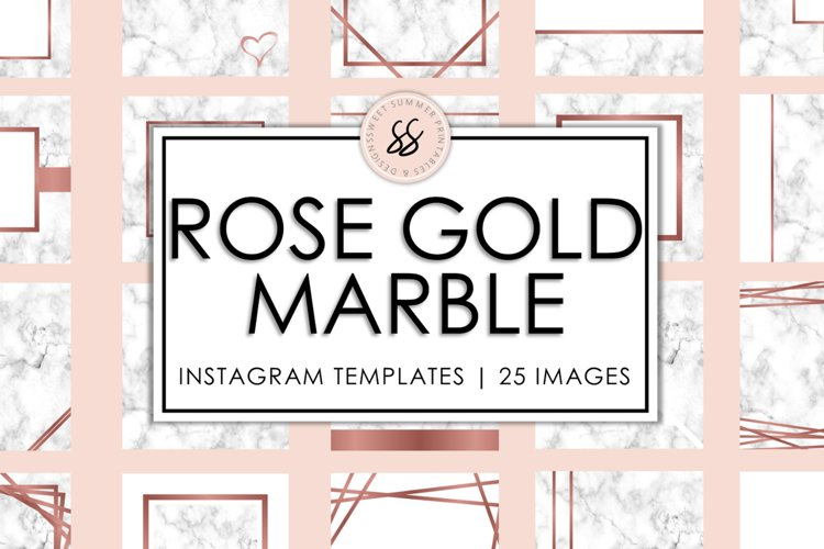 Rose Gold Marble Instagram Templates example image 1
